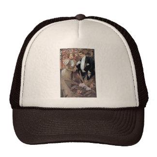 Mucha flirt woman man romantic love trucker hat