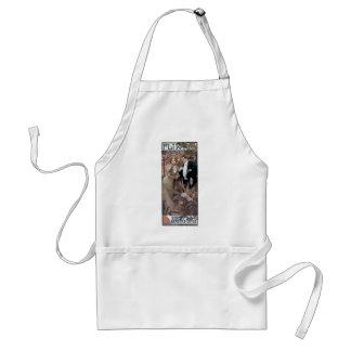 Mucha flirt woman man romantic love standard apron
