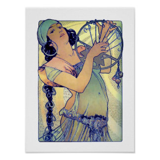 Mucha Gypsy girl Posters