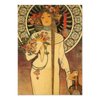 Mucha La Trappistine Card