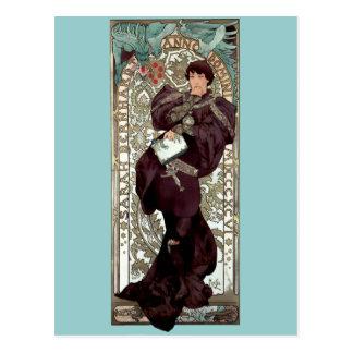 Mucha Lorenzaccio theater renaisance man Postcard