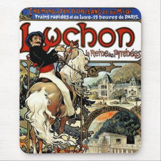 Mucha - Luchon -  Casino  -Art Nouveau Mouse Pad