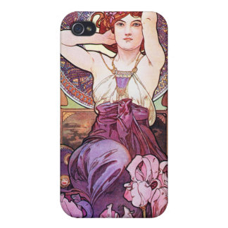 Mucha Poster The Amethyst Case For The iPhone 4