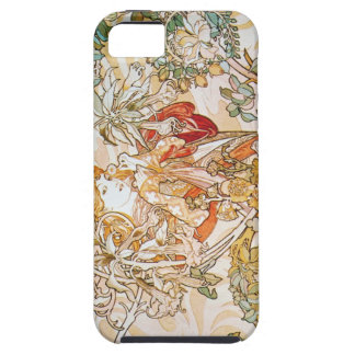 Mucha Woman with Daisy iPhone 5 case