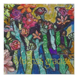 Muchas gracias 13 cm x 13 cm square invitation card