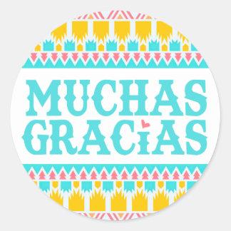 Muchas Gracias - Fiesta Thank You Sticker
