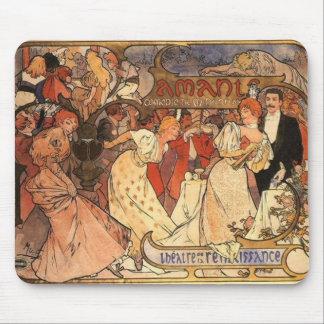 """Mucha's """"Theatre de la Renaissance"""" Mousepad"""