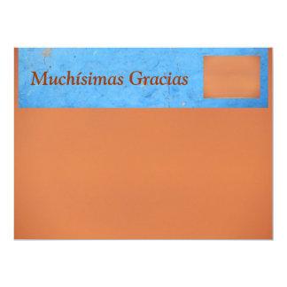 Muchísimas Gracias Card - Multipurpose Card 17 Cm X 22 Cm Invitation Card