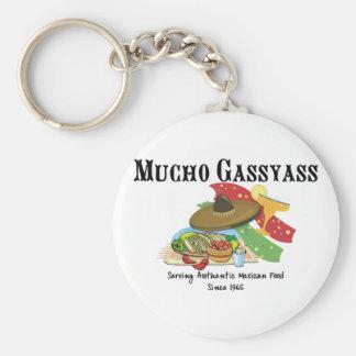 Mucho Gassyass Basic Round Button Key Ring