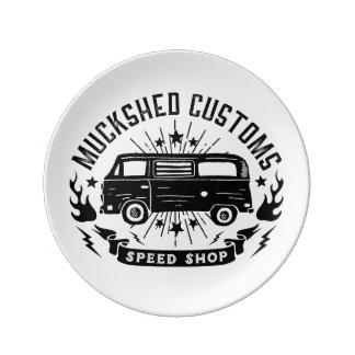 Muckshed Customs speed shop Plate