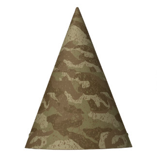 Mud camouflage party hat