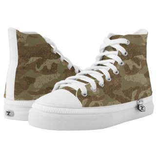 Mud camouflage printed shoes