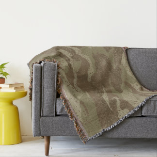 Mud camouflage throw blanket