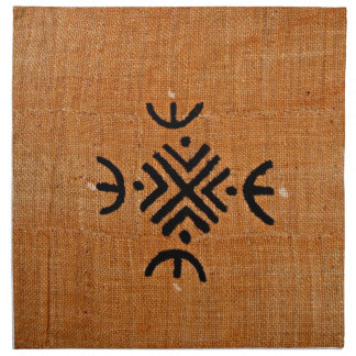Mud cloth orange
