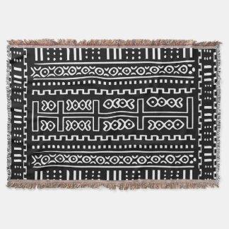 Mud Cloth Pattern Throw Blanket