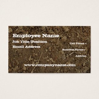 Mud Dirt Fill Business Card Template