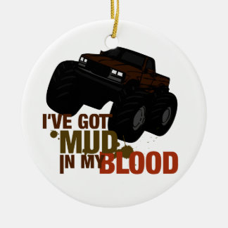Mud in my Blood Ceramic Ornament