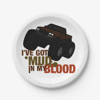 Mud in my Blood Paper Plate