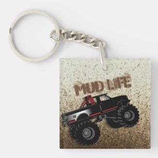 Mud Life Mud Bogging Black Truck Key Ring