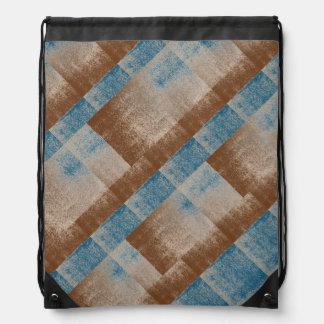 Mud Lover Brown Splash Style Aged+ Pick Your Color Drawstring Backpacks