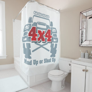 Mud Up or Shut Up 4x4 Off Road Shower Curtain