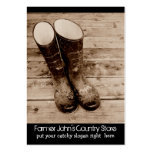 Muddy Gumboots for Farmers Country Store