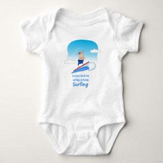 Muddy on the Waves Baby Bodysuit