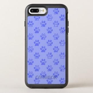 Muddy paw prints in Blue OtterBox Symmetry iPhone 8 Plus/7 Plus Case