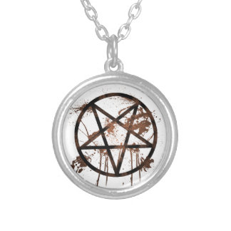Muddy Pentagram Silver Plated Necklace