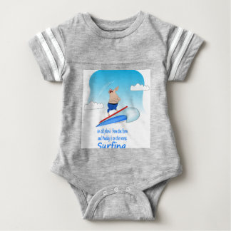 Muddy Pig on the Waves Baby Bodysuit