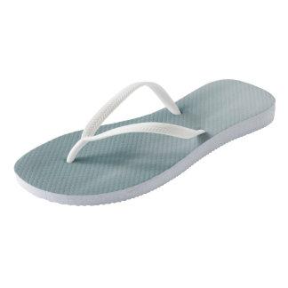 Muddy Teal Ombre Wave flip-flops Thongs