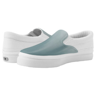 Muddy Teal Ombre Wave Z slipons Printed Shoes