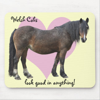 Muddy Welsh cob mousemat