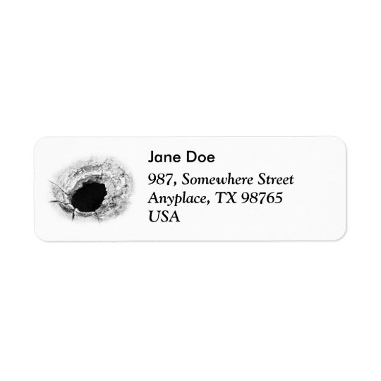 Mudpot or hole return address label