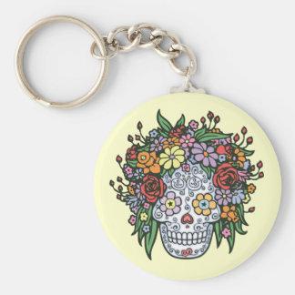 Muerta Linda Basic Round Button Key Ring
