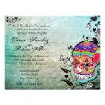 Muerte Day of the Dead Calaveras Sugar Skull Personalised Invitation