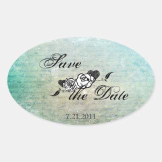 Muerte Sugar Skull Calaveras Save the Date Sticker