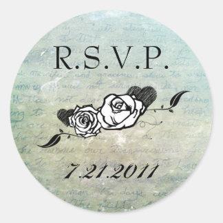 Muerte Sugar Skull Calaveras Save the Date Stickers