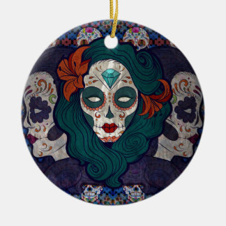 Muerto Ladies Ceramic Ornament