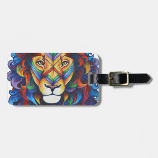 Mufasa's new hair do luggage tag