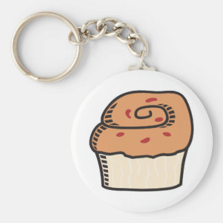 muffin basic round button key ring