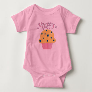 Muffin Cute Blueberry Muffin Baby Bodysuit