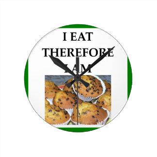 muffin round clock
