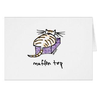 Muffin Top Cat Card