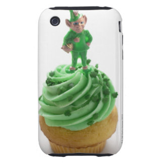 Muffin with green cream for St. Patrick's Day Tough iPhone 3 Covers