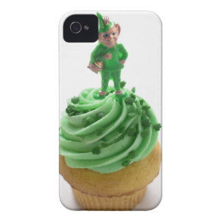 Muffin with green cream for St. Patrick's Day Case-Mate iPhone 4 Cases