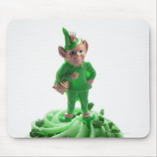 Muffin with green cream for St. Patrick's Day Mouse Pad