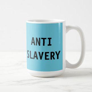 Mug Anti Slavery Turquoise Blue
