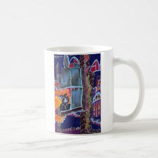 Mug, architectural abstract, colorful coffee mug