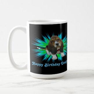 Mug Baby Basset Hound Happy Birthday Daughter Basic White Mug